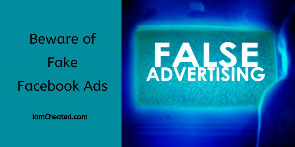 Beware of Fake Facebook Ads