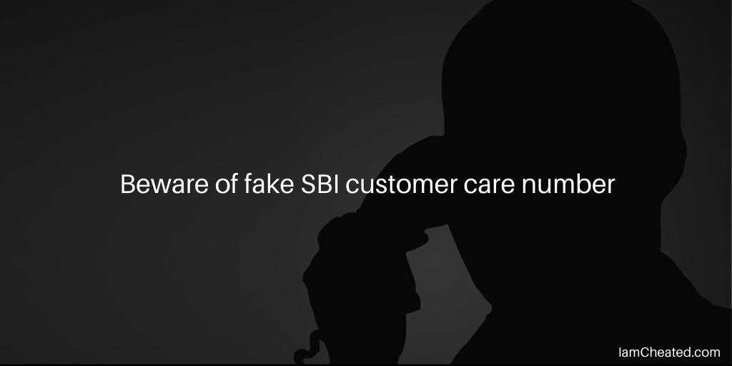 Beware of fake SBI customer care number