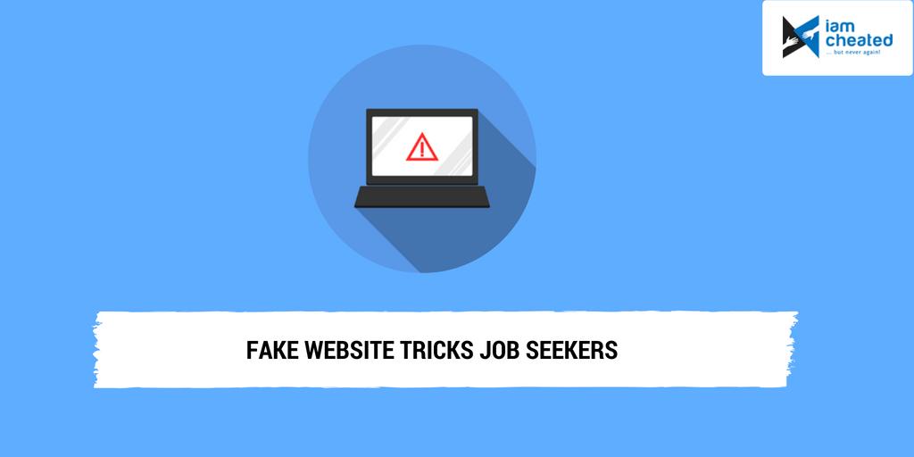 Fake Website Tricks Job Seekers