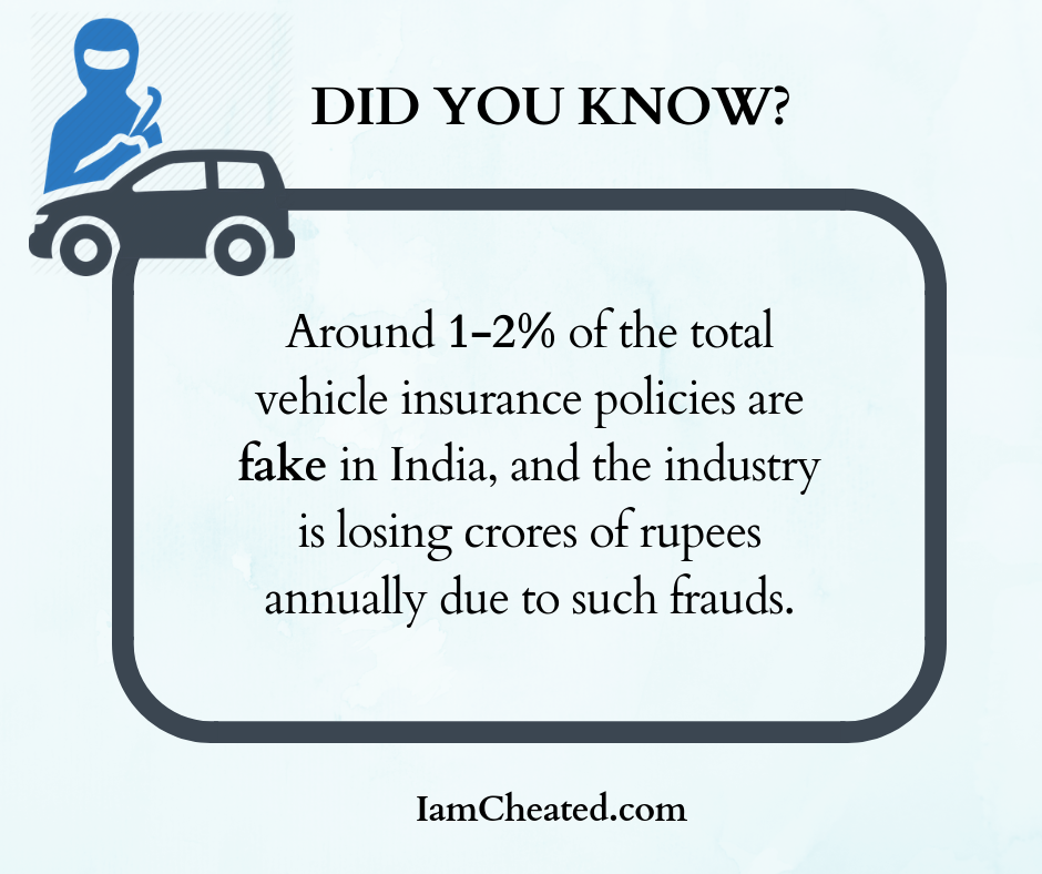 Around 1-2% of the total vehicle insurance policies are fake in India