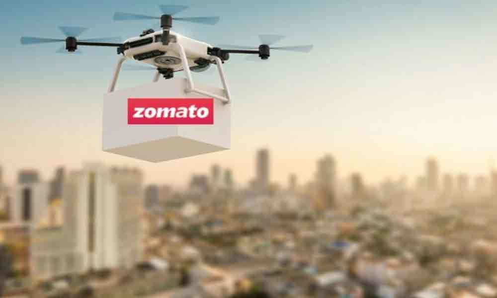 Zomato tests drone technology; reduces delivery time