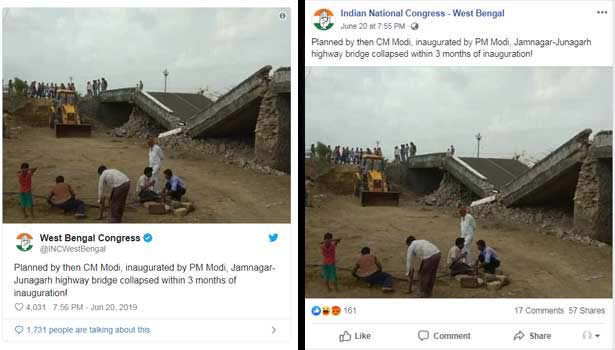 This 50-yr-old bridge in Gujarat that collapsed was not inaugurated by PM Modi